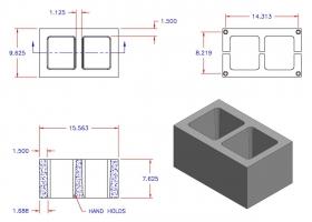 D10816-1121 Square Core Plain End