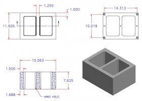 D12816-1101 Square Core Plain End