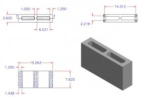 D4816-1145 Square Core Plain End