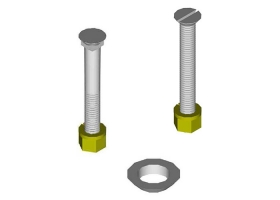 Stripper Shoe Bolts with Nuts and Washers