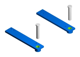 Guidance System Lower Support Bars and Pins