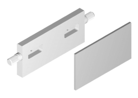 Mold End Bar with Pockets and Face Liner