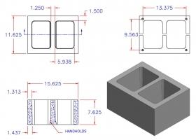 DC12816-1115 Square Core Plain End