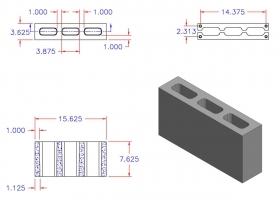 DC4816-1144 3 Core Plain End