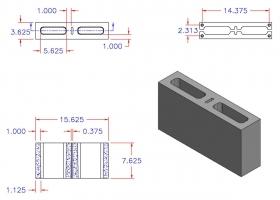 DC4816-1625 Square Core Plain End