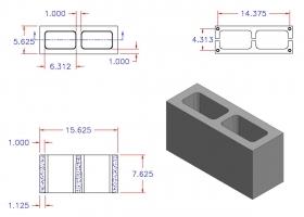DC6816-1110 Square Core Plain End